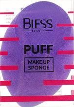 Парфумерія, косметика Спонж скошений, фіолетовий - Bless Beauty PUFF Make Up Sponge