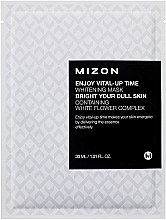 Духи, Парфюмерия, косметика Тканевая маска для лица осветляющая - Mizon Enjoy Vital-Up Time Whitening Mask