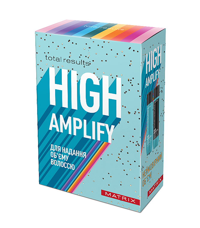Набор для придания объема волосам - Matrix Total Results High Amplify (shmp/300ml + cond/300ml)