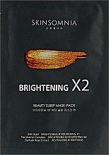 Духи, Парфюмерия, косметика Маска для лица сияние 2х эффект бьюти-слип - Jkosmec Skinsomnia Brightening X2 Beauty Sleep Mask Pack