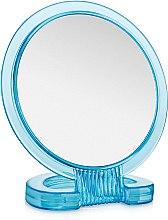 Духи, Парфюмерия, косметика Зеркало косметическое двухстороннее, круглое, голубое - Элита
