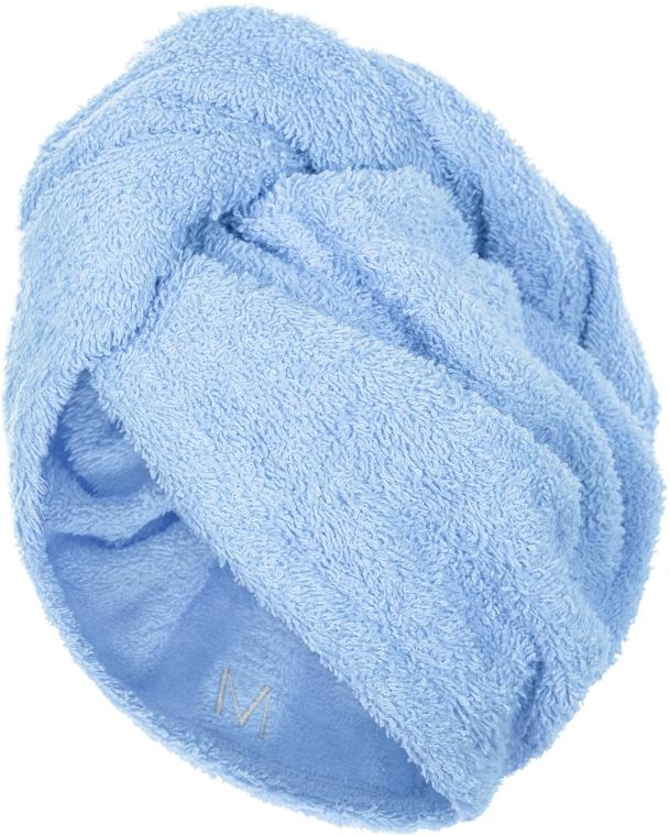 Полотенце-тюрбан для сушки волос, голубое - Makeup