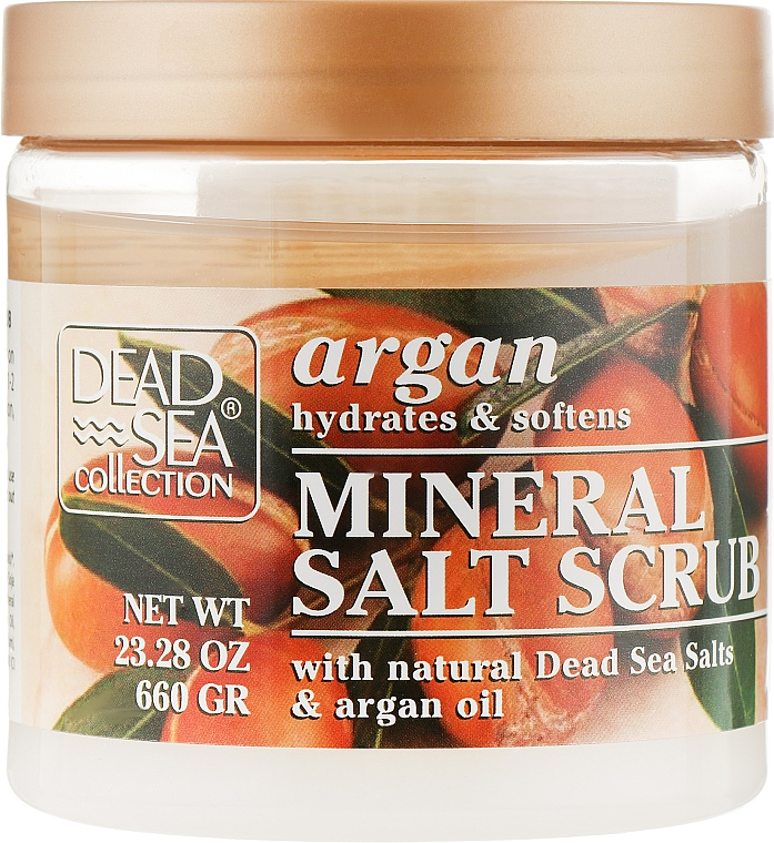 Скраб для тела с минералами Мертвого моря и аргановым маслом - Dead Sea Collection Argan Mineral Salt Scrub