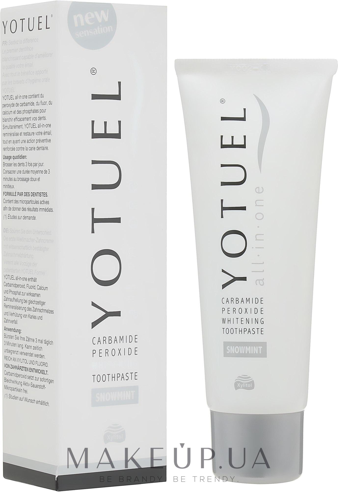 Отбеливающая зубная паста - Yotuel All in One Snowmint Whitening Toothpaste — фото 75ml