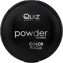 Духи, Парфюмерия, косметика Компактная пудра с зеркалом - Quiz Cosmetics Color Focus Powder