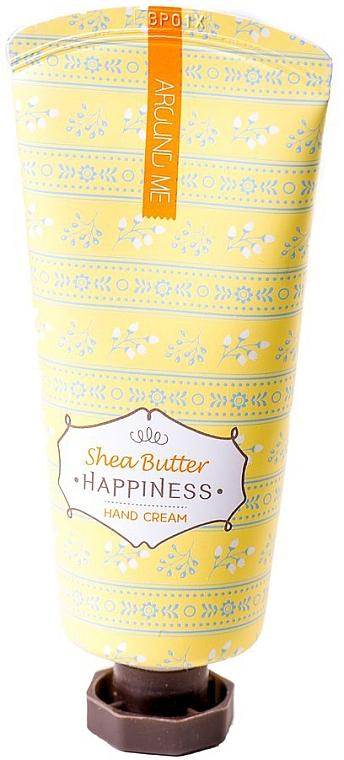 Крем для рук с маслом Ши - Welcos Around Me Happiness Hand Cream Shea Butter