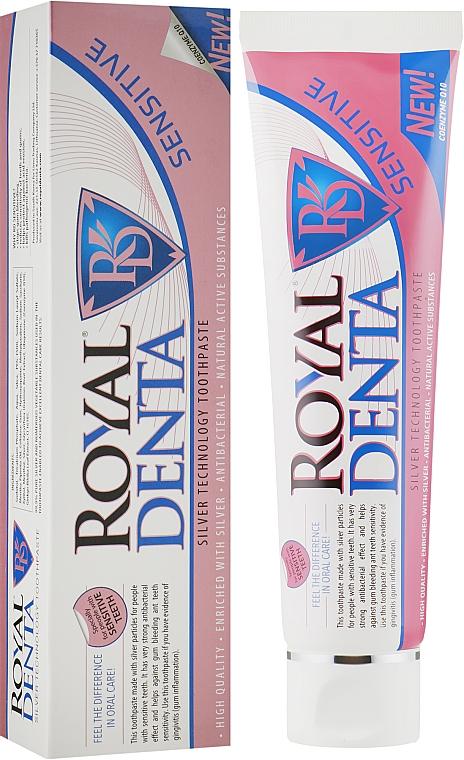 "Зубная паста с серебром ""Сенситив"" - Royal Denta Sensitive Silver Technology Toothpaste"