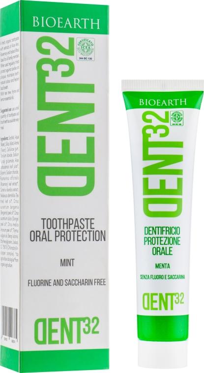 Зубная паста с ментолом - Bioearth Dent32 Toothpaste with Mint