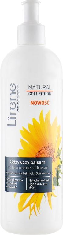 Питательный бальзам для тела с подсолнечным маслом - Lirene Natural Collection