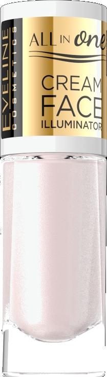 """Кремовый хайлайтер """"Естественное сияние"""" - Eveline Cosmetics All In One Cream Face Illuminator"""