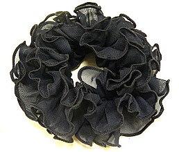Духи, Парфюмерия, косметика Резинка для волос P11806-2, 14 см d-5,5 см, черная - Akcent