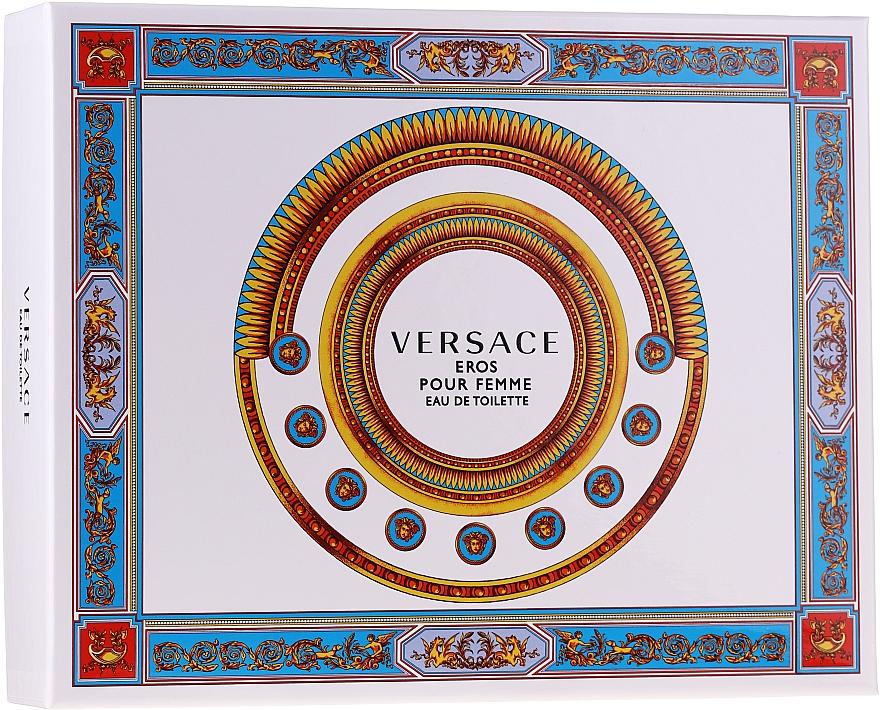 Versace Eros Pour Femme - Набор (edt/50ml + b/lot/50ml + sh/gel/50ml)