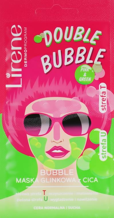 Глиняно-пузырьковая маска - Lirene Double Bubble Сіса