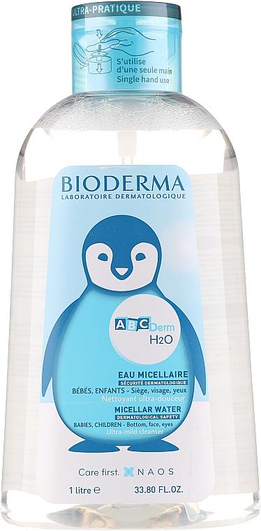 Детская мицеллярная вода - Bioderma Abcderm H2O Micellar Water (с помпой)