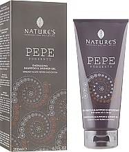 Парфумерія, косметика Енергетичний гель для душу і шампунь з чорним перцем - Nature's Dark Pepper Shampoo & Shower Gel