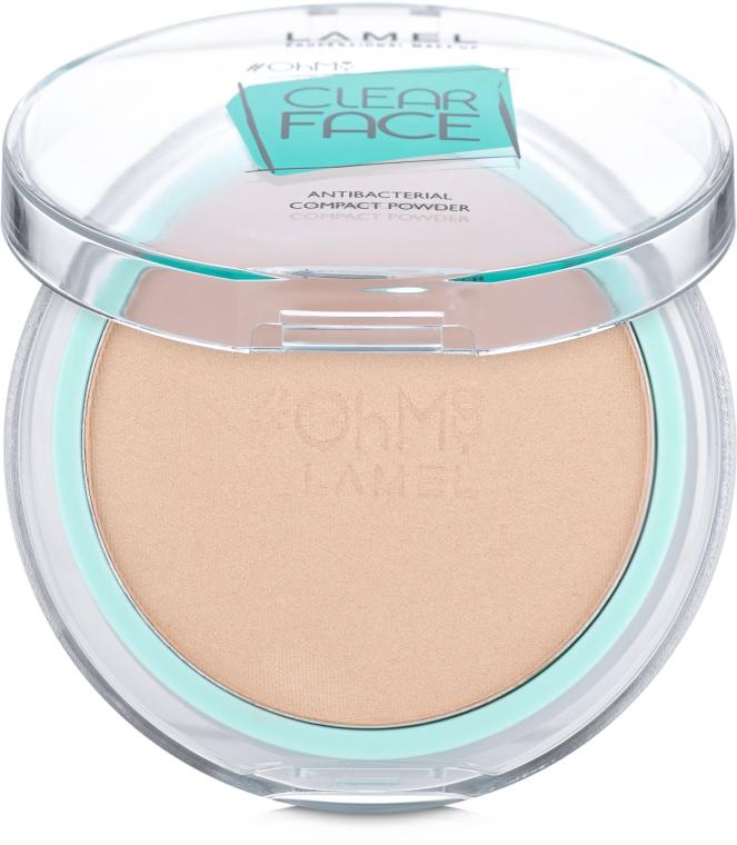 Пудра компактная антибактериальная - Lamel Professional Clear Face Oh My Compact Powder