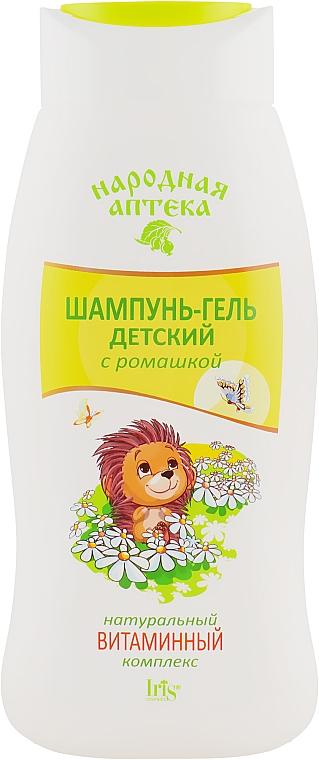 Шампунь-гель детский ромашкой и натуральным витаминным комплексом - Iris Cosmetic Народная аптека