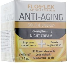 Духи, Парфюмерия, косметика Ночной укрепляющий крем - Floslek Anti-Aging Gold & Energy Strengthening Night Cream