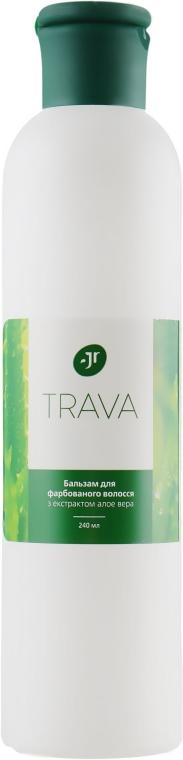 Бальзам для окрашенных волос с экстрактом алоэ вера - J'erelia Trava