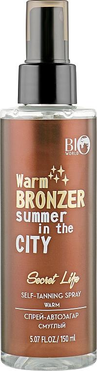 Спрей-автозагар, смуглый - BioWorld Secret Life Self-Tanning Spray Warm