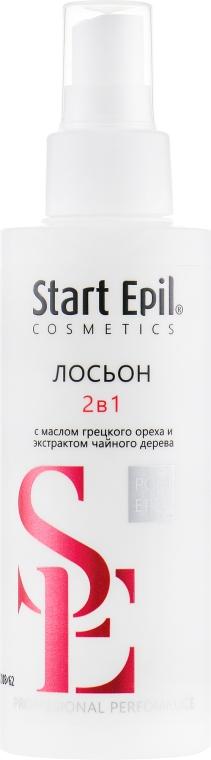 Лосьон «2 в 1» против вросших волос и для замедления роста волос - Aravia Professional Start Epil