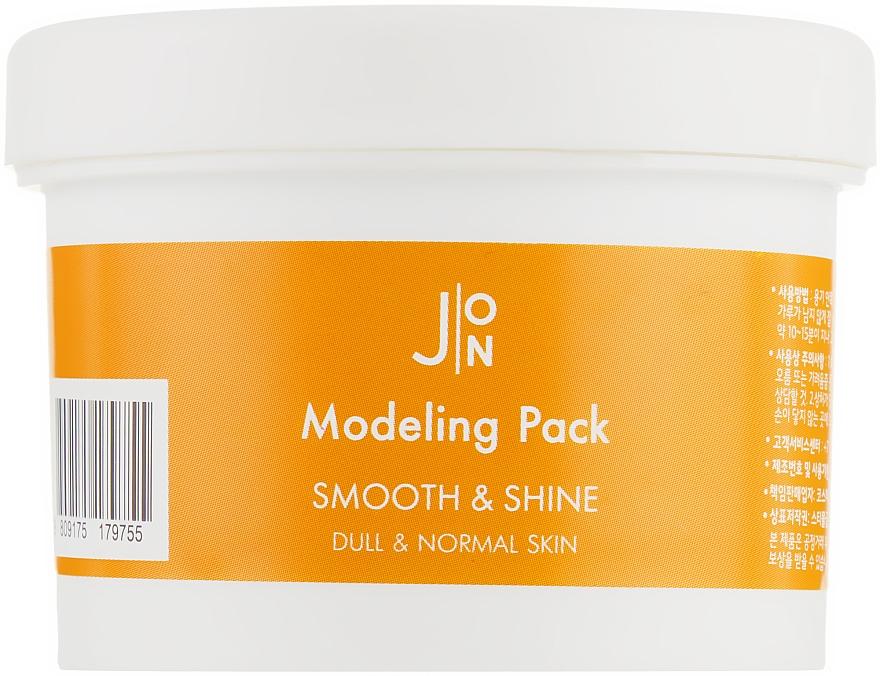 Альгинатная маска для придания гладкости и сияния кожи лица - J:ON Modeling Pack Smooth & Shine