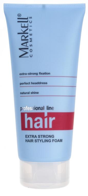 Пенка для укладки волос суперсильной фиксации - Markell Cosmetics Professional Hair Line