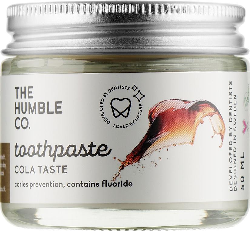 Натуральная зубная паста реминерализующая в стекляной банке «Кока-Кола» - The Humble Co. Cola Taste Toothpaste