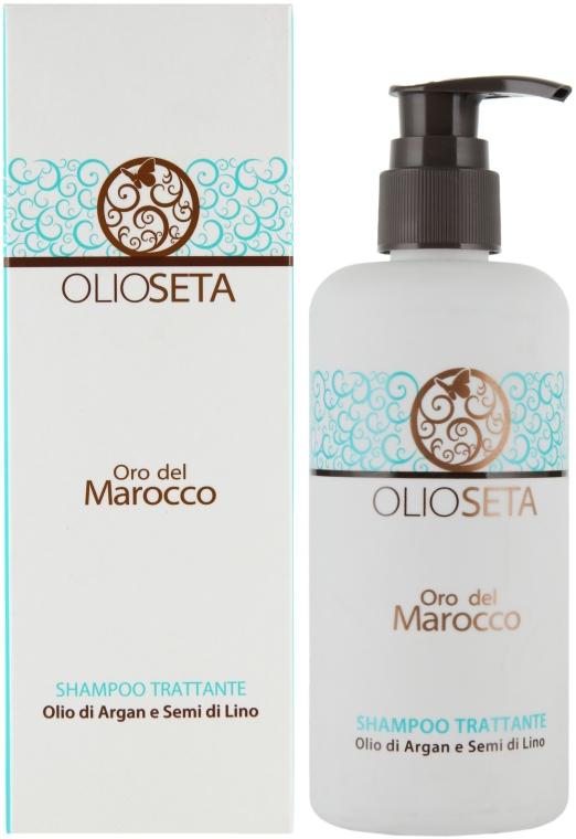Поживний шампунь з маслом аргана і маслом насіння льону - Barex Italiana Olioseta Shampoo — фото N2