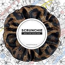 "Духи, Парфюмерия, косметика Резинка для волос экокожа, леопард коричневый ""Faux Leather Classic"" - MakeUp Hair Accessories"