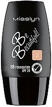 Духи, Парфюмерия, косметика Тональный крем для лица - Misslyn Be Beautiful BB Foundation SPF20