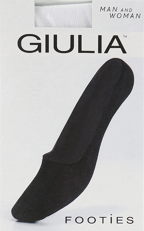 "Следки ""Footies"", белые - Giulia"