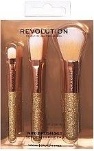 Духи, Парфюмерия, косметика Набор кистей для макияжа, 3 шт - Makeup Revolution Brushes Mini Brush Set