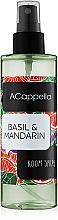 Духи, Парфюмерия, косметика ACappella Basil & Mandarin - Интерьерные духи