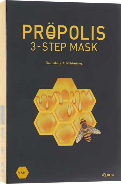 Маска для лица 3-х шаговая - A'pieu Propolis 3-Step Mask