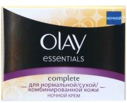 Духи, Парфюмерия, косметика Ночной крем тройного действия для нормальной, сухой и комбинированной кожи - Olay Complete Night Cream