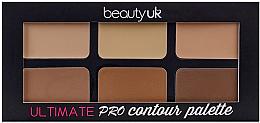 Духи, Парфюмерия, косметика Палетка для контурирования лица - Beauty UK Ultimate PRO Contour Palette