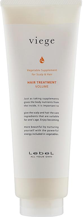Маска для объема волос - Lebel Viege Treatment Volume