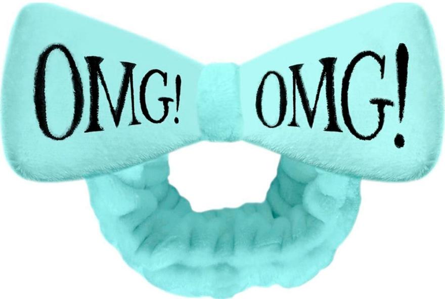 Косметическая повязка для волос, бирюзовая - Double Dare OMG! Blue Hair Band