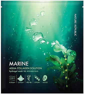 Гидрогелевая маска с морским коллагеном - Nature Republic Aqua Collagen Solution Marine Hydrogel Mask — фото N1