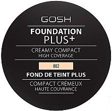 Духи, Парфюмерия, косметика Компактный тональный крем - Gosh Foundation Plus+ Creamy Compact High Coverage