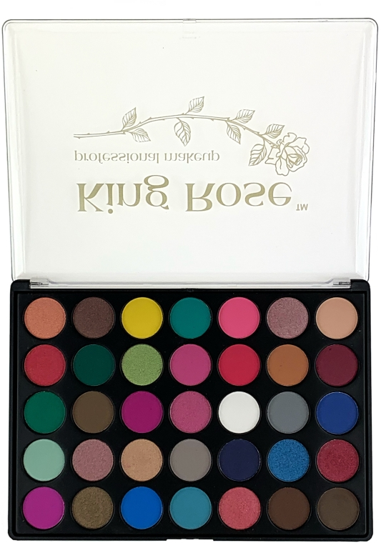 Палетка теней для век, 35 цветов - King Rose Eyeshadow Palette 35D