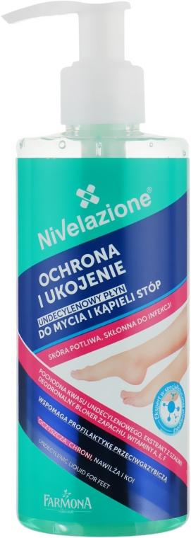 Жидкость для стоп ундециленовая - Farmona Nivelazione Undecylenic Foot Bath and Washing Liquid — фото N1