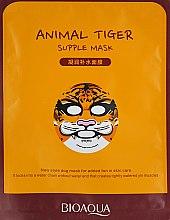 Духи, Парфюмерия, косметика Восстанавливающая тканевая маска для лица с принтом - BioAqua Animal Tiger Supple Mask