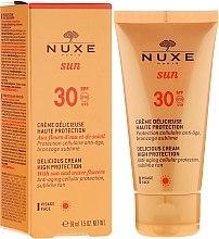 Парфумерія, косметика Сонцезахисний крем для обличчя - Nuxe Sun Delicious Face Cream SPF 30