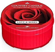 """Духи, Парфюмерия, косметика Чайная свеча """"Любовь и розы"""" - Country Candle Love & Roses Daylight"""