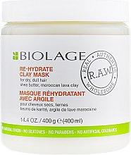 Духи, Парфюмерия, косметика Маска для волос - Biolage RAW Re-Hydrate Clay Mask