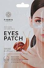 Духи, Парфюмерия, косметика Маска-патч гидрогелевая с экстрактом улитки для области вокруг глаз - Fabrik Cosmetology SnailExtract Eyes Patch