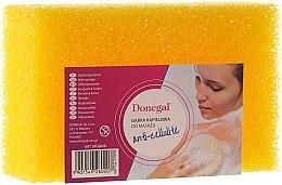 Духи, Парфюмерия, косметика Мочалка для мытья массажная 6020, желтая - Donegal Cellulose Sponge