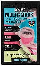 Духи, Парфюмерия, косметика Маска для лица для сухой кожи - Beauty Formulas 3-Step Multi-Mask Face Treatment For Dry Skin